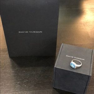 David Yurman Blue Topaz Ring Sz 5